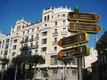 Straße von Madrid Stockfotografie