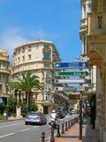 Straße von Monte Carlo Stockfotos