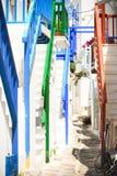 Straße von mykonos Lizenzfreie Stockfotos