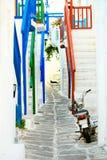 Straße von mykonos Stockbild