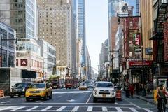 Straße von New York Stockfotos
