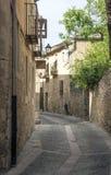 Straße von Pedraza Stockfotos