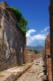 Straße von Pompeji lizenzfreie stockfotos