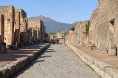 Straße von Pompeji Lizenzfreies Stockfoto