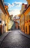 Straße von Prag stockfotos