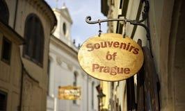 Straße von Prag Lizenzfreie Stockfotografie