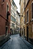 Straße von Rom stockfotografie