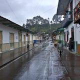 Straße von Salento, Kolumbien Stockfotografie