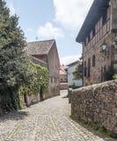 Straße von Santillana Del Mar lizenzfreies stockbild