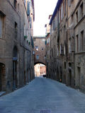 Straße von Siena stockfoto