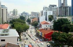 Straße von Singapur Stockbild