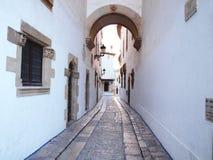 Straße von Sitges Lizenzfreie Stockfotos