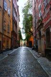 Straße von Stockholm-Schweden lizenzfreie stockfotos