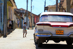 Straße von Trinidad, Kuba Stockfotos