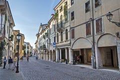 Straße von Vicenza Stockfotos