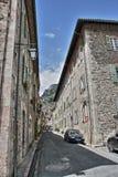 Straße von Villefranche de Conflent, Frankreich stockfoto