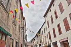 Straße von Villefranche de Conflent, Frankreich lizenzfreie stockbilder