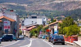 Straße von Vimianzo Ein Coruna, Spanien Lizenzfreies Stockfoto