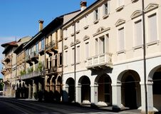Straße vor der Basilika von St Anthony in Padua im Venetien (Italien) Stockfotografie