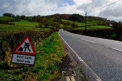 Straße in Wales Lizenzfreie Stockbilder