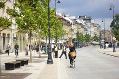 Straße in Warschau Stockbilder