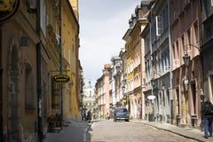 Straße in Warschau Stockbild
