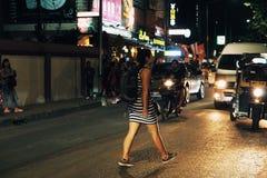 Straße Wegstraße Thailands ChiangMai lizenzfreie stockfotografie