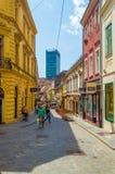 Straße Zagrebs Radiceva, Hauptstadt von Kroatien lizenzfreie stockfotografie