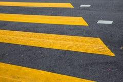 Straße zeichnet Zebrastreifen Lizenzfreie Stockbilder