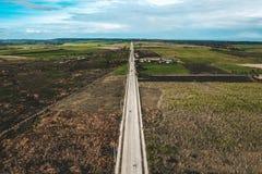 Straße zu Bantayan-Insel Cebu Philippinen stockfoto