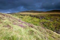 Straße zu Bracadale, Insel von Skye, Schottland lizenzfreies stockfoto