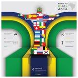 Straße zu Brasilien-Fußball-Turnier 2014 Stockfotografie