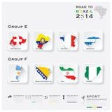 Straße zu Brasilien-Fußball-Turnier-Sport 2014 Infographic Lizenzfreies Stockbild