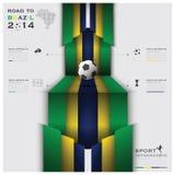 Straße zu Brasilien-Fußball-Turnier-Sport 2014 Infographic Lizenzfreie Stockfotografie