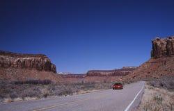 Straße zu Canyonlands Stockfotografie
