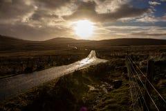Straße zu den Hügeln Stockbilder