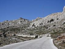 Straße zu EL Torcal Massiv stockbild