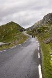 Straße zu Haugesund in Norwegen lizenzfreie stockbilder