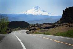 Straße zu Mt-Haube stockfotos