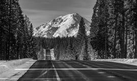Straße zu Mt Shasta Stockfotos