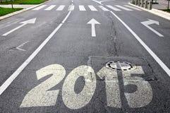 Straße zu neuem Jahr 2015 Lizenzfreies Stockfoto