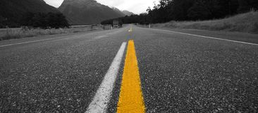 Straße zu nirgendwo Stockfotos