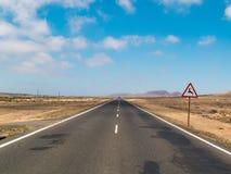 Straße zu nirgendwo Lizenzfreies Stockbild