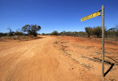 Straße zu Oakabella Lizenzfreies Stockfoto