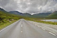 Straße zu Skye Stockfotografie
