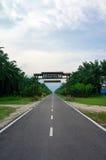 Straße zu Taman Hutan Lagenda Stockbild