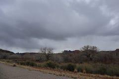 Straße zu Zion Canyons! Utah lizenzfreie stockfotos