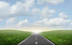 Straße zum Erfolg lizenzfreie abbildung