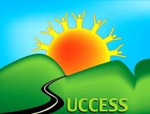 Straße zum Erfolg Lizenzfreies Stockbild
