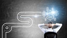 Straße zum Erfolg und zum Reichtum lizenzfreie stockfotos